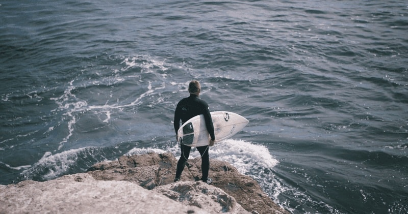 safe harbors - surfer with no surf